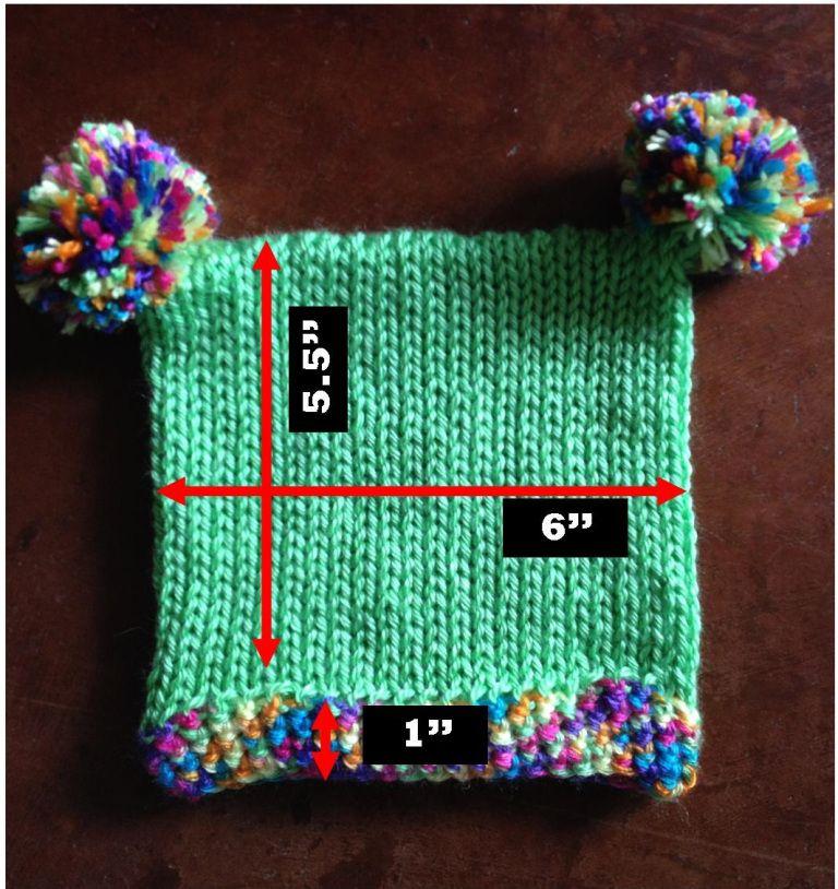 Square Baby Hat Measurements Addi king size | knitting ideas ...
