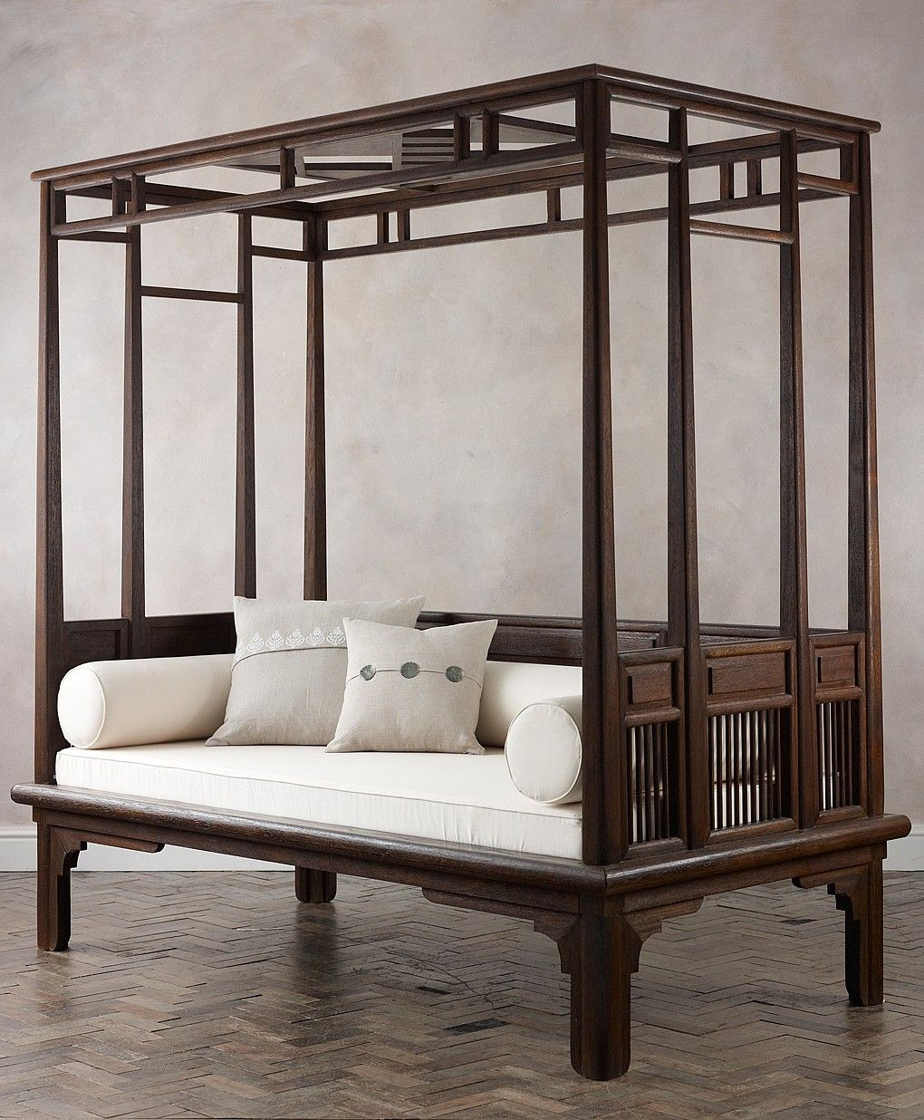 Orchid Four Poster Daybed Furniture, Wooden daybed