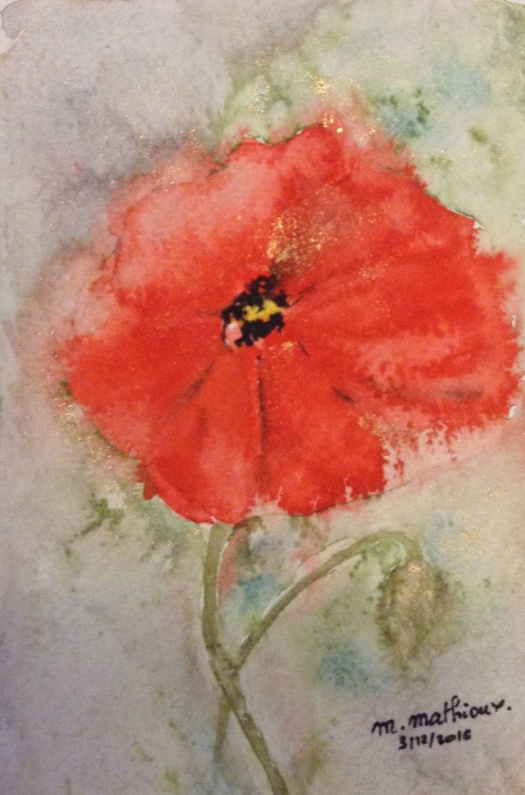 1000 Images About Aquarelle Fleur Martine Mathioux On Pinterest