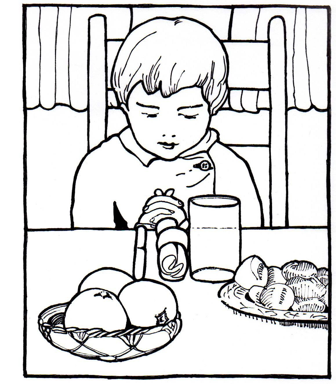 Clip Art Children Praying Coloring Page praying child coloring page futpal com futpal