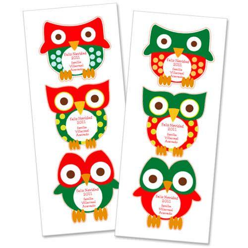 Pegatinas de vinilo con buhos para regalos de navidad for Pegatinas de vinilo