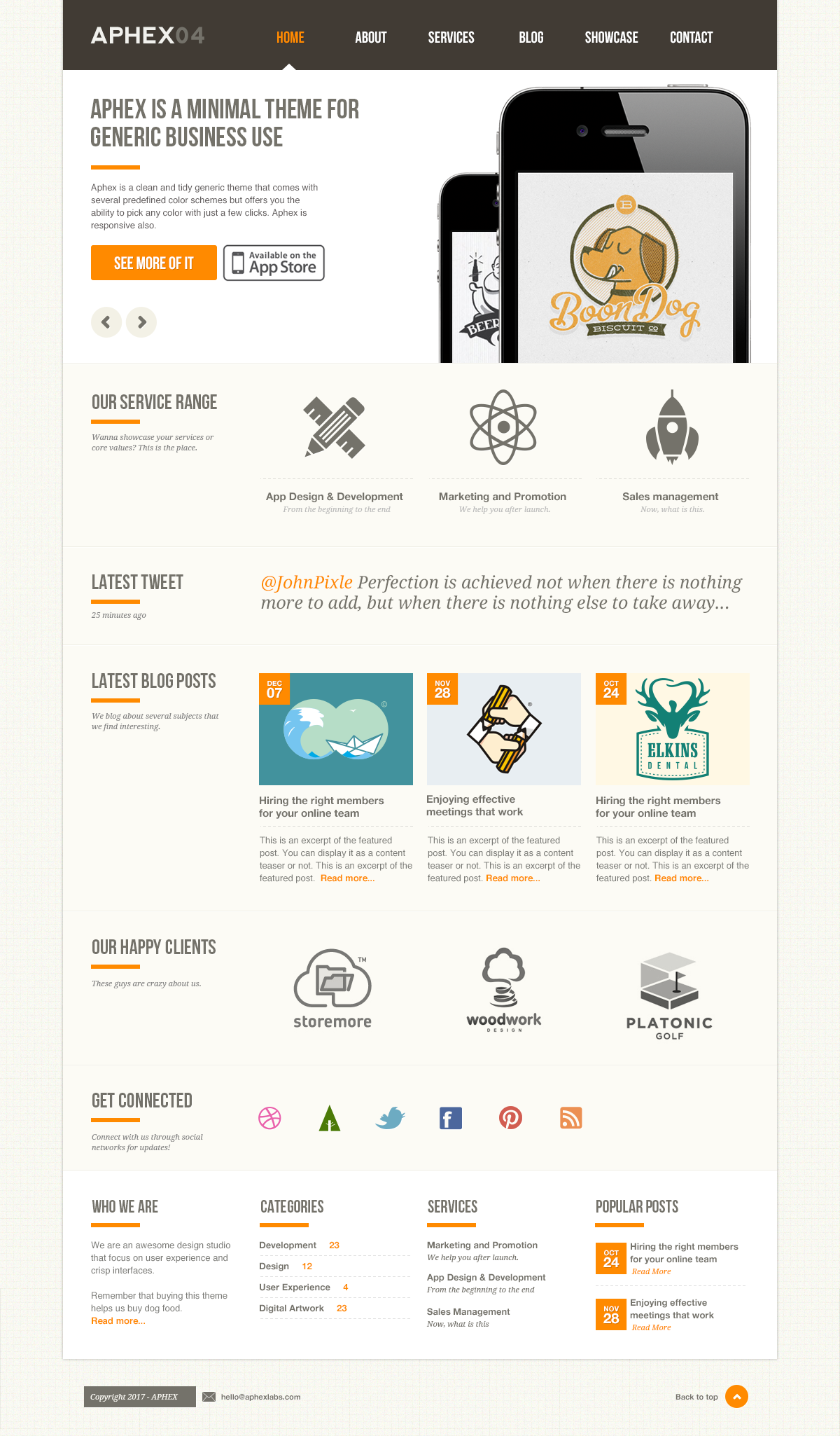 Aphex04 - A Pixel Perfect .psd Theme - ThemeForest Previewer | Web ...