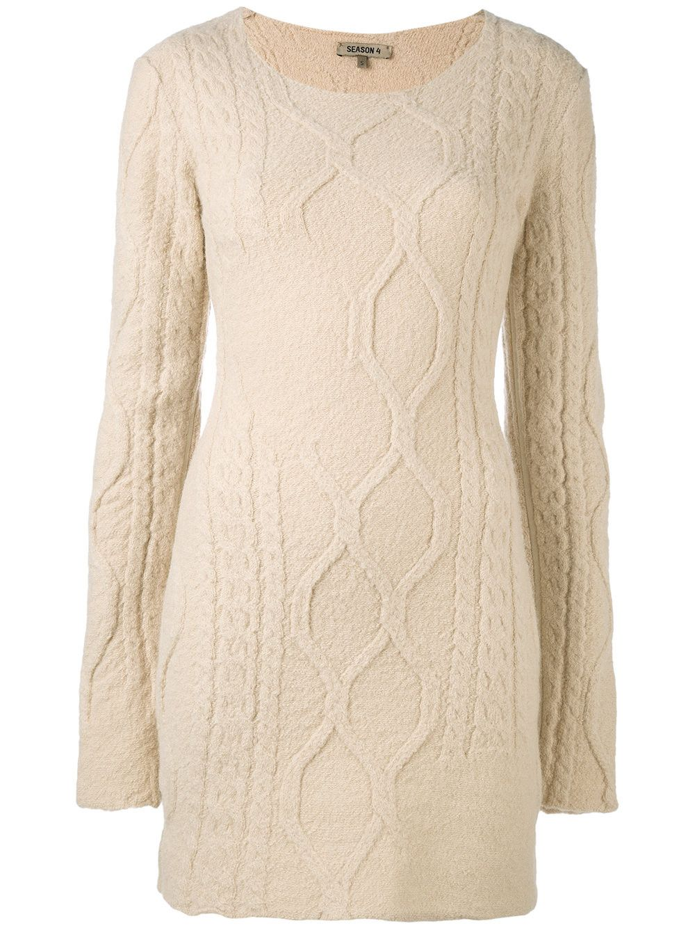 long-sleeved knitted dress - Nude & Neutrals Yeezy by Kanye West pVqJe4IeYT