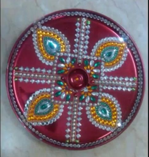 Aarti thali diwali crafts pinterest diwali diwali for Aarti thali decoration with clay