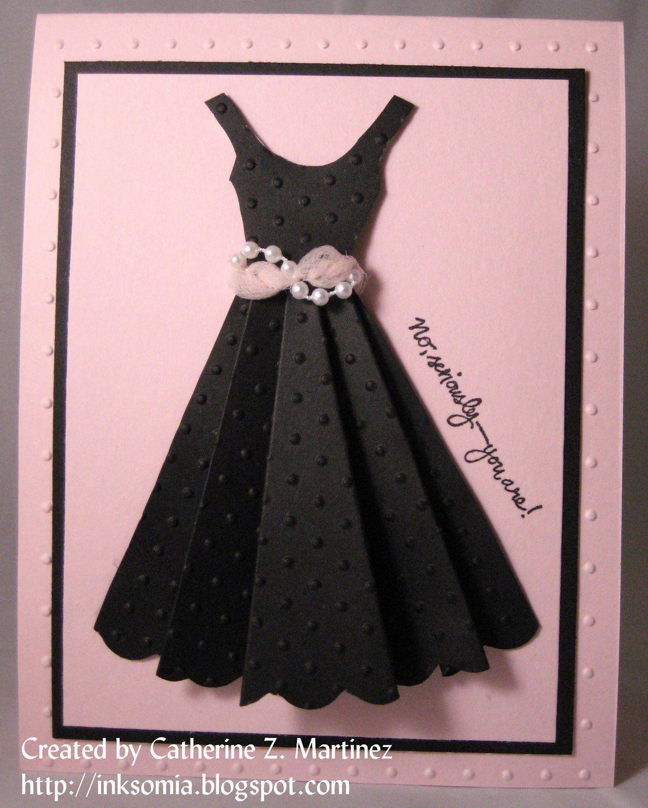 открытка в виде платья своими руками запросу