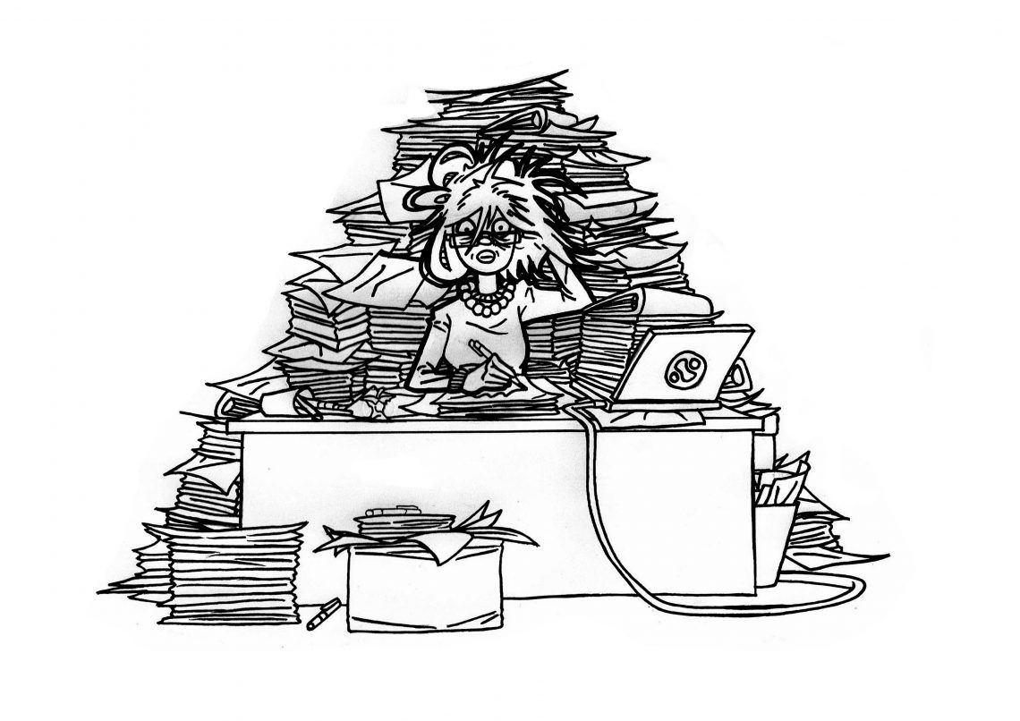 Is this you? Does your teacher's desk look like this