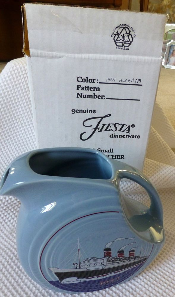 Fiesta® HLCCA Collector's Exclusive 1934 JUICE PITCHER Periwinkle | eBay