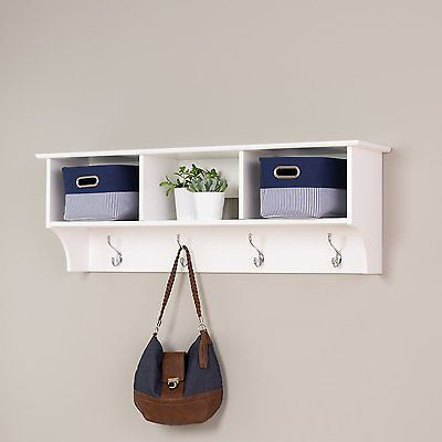 Entryway Shelf Organizer Cubby Rack Wall Mounted Hanging Coat Hook Storage New With Images Hanging Entryway Shelf Entryway Cubby Shelf Entryway Wall Shelf