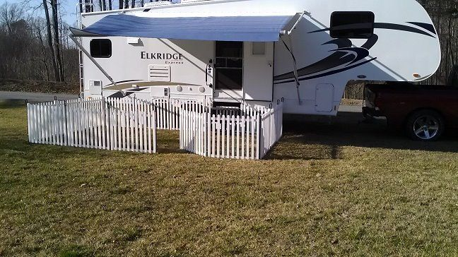 Gates For Rvs : Picket play fencing modular rv fence if you love to camp