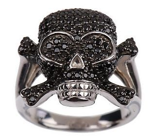 David English Black Skull Ring Love Skull Jewelry Gothic Jewelry Skull Wedding Ring