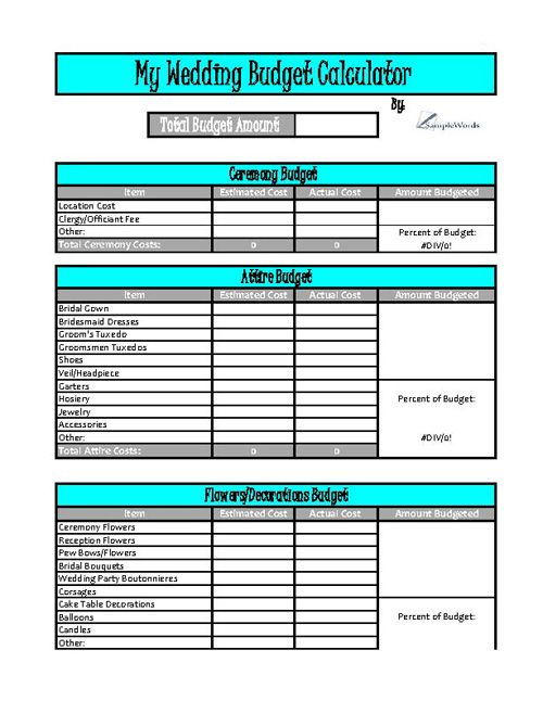 Budget Calculator Template Monthly Budget Calculator Template