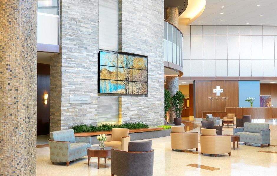 Silver Cross Hospital Lobby Designed By Spellman Brady Company
