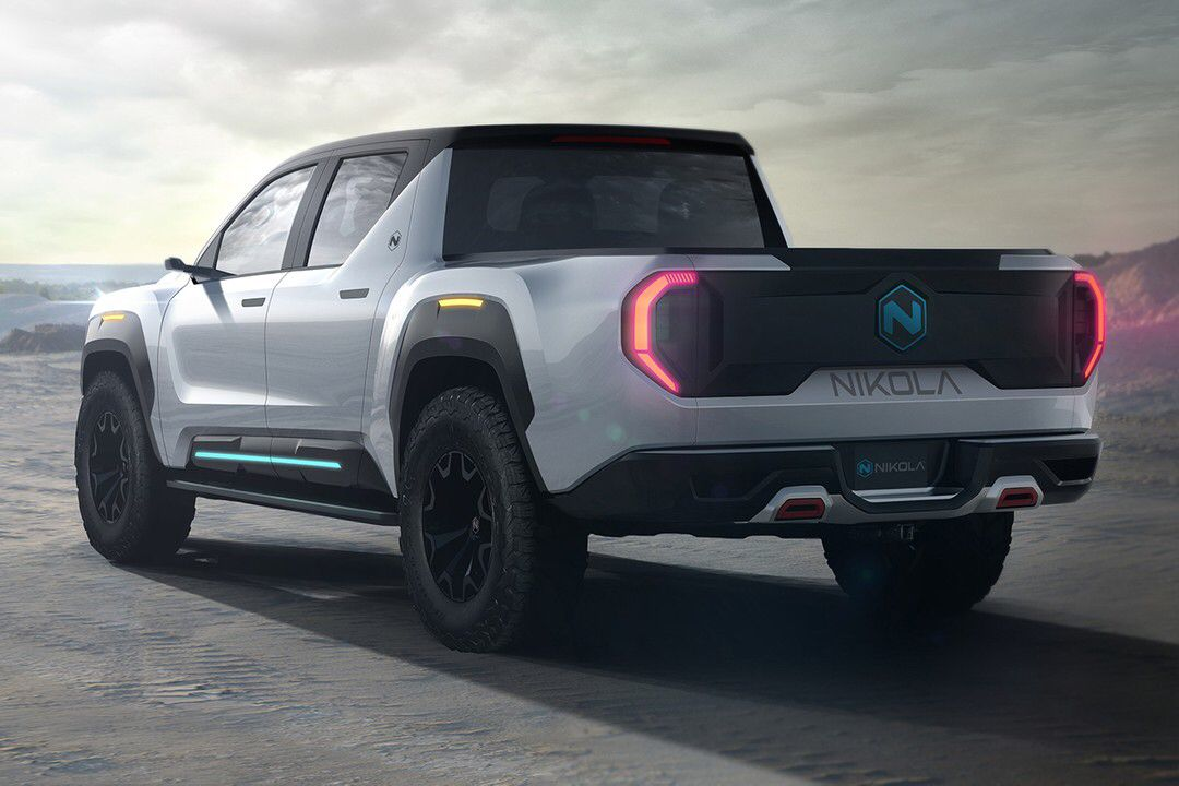 Nikola Combines Hydrogen With Electricity For 906 Hp Badger Pickup Truck In 2020 Fuel Cell Electric Truck Trucks