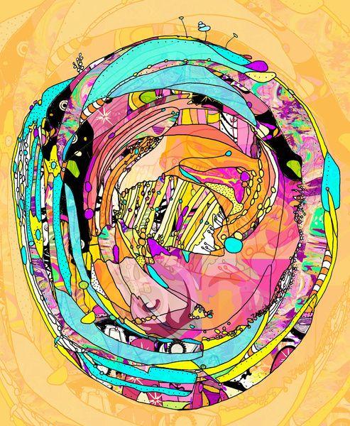 Circled Art Print