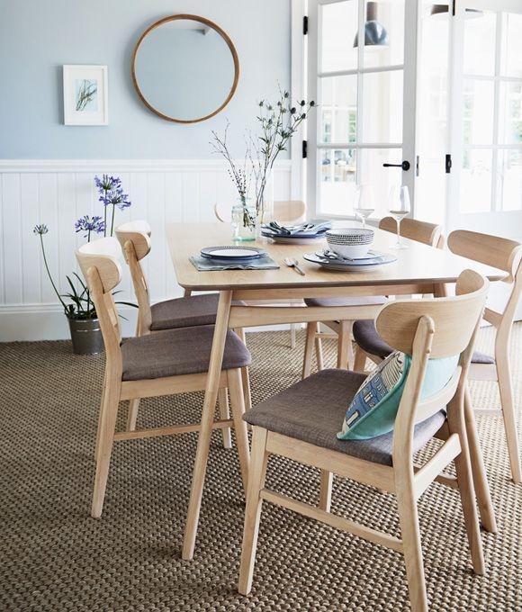 Dining Room Ideas Inspiration Scandinavian Style Blue Dining