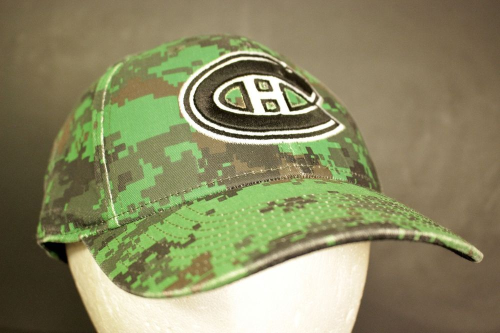 sale retailer 272f3 95823 ... ireland montreal canadiens hat cap digital camo green nhl hockey  flexible fitted l xl reebok baseballcap