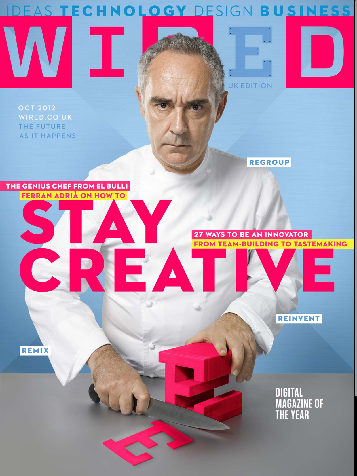For the October 2012 issue of Wired UK I was invited to create the ...