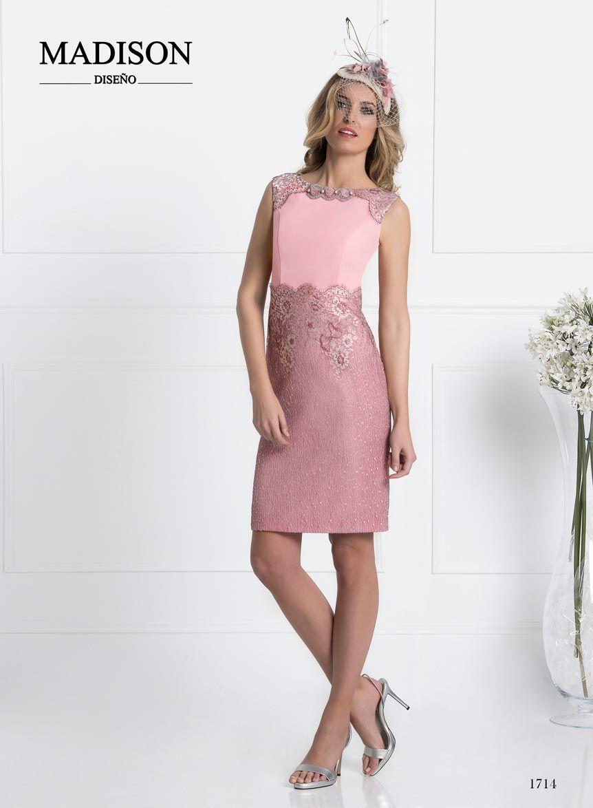 vestido de fiesta corto rosa | Como vestir bien | Pinterest ...