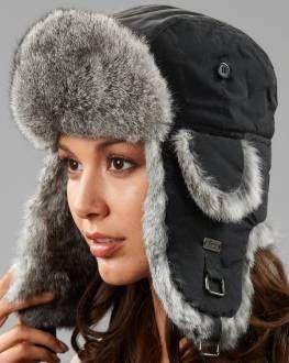 f4051b6ebd644 Grey and Black Fur Trapper Hat ( 40)