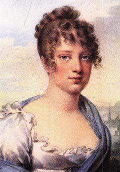 Princesa real Carolina Leopoldina, pintada por Jean-Baptiste Isabey.