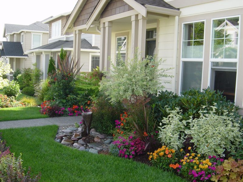 Google Image Result for  http://www.yardshare.com/yard_pics/August%202008%20gard | Front yard  landscaping design, Small front yard landscaping, Yard landscaping