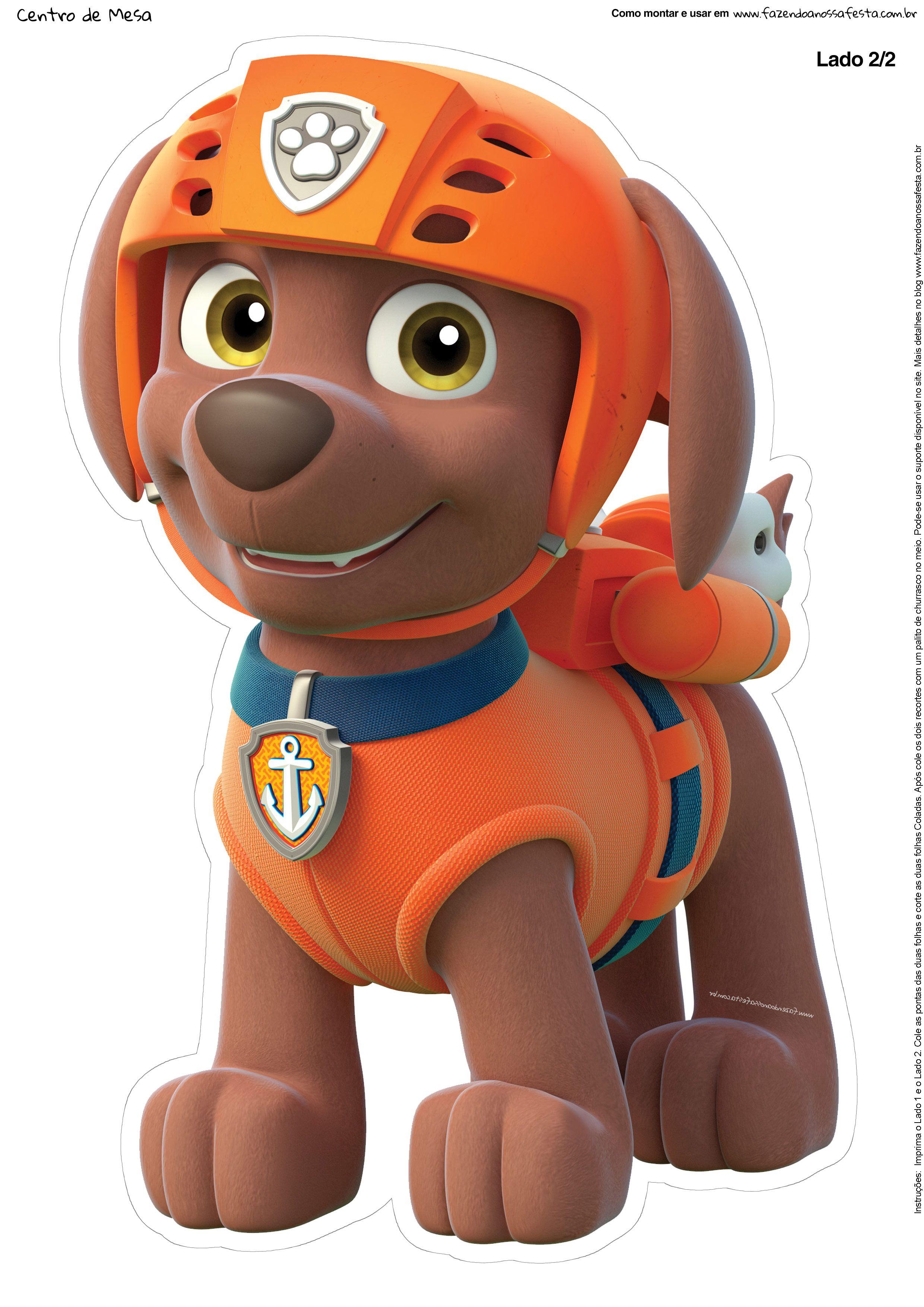 Paw Patrol Characters · Centro De Mesa Patrulha Canina   Zuma 2 1