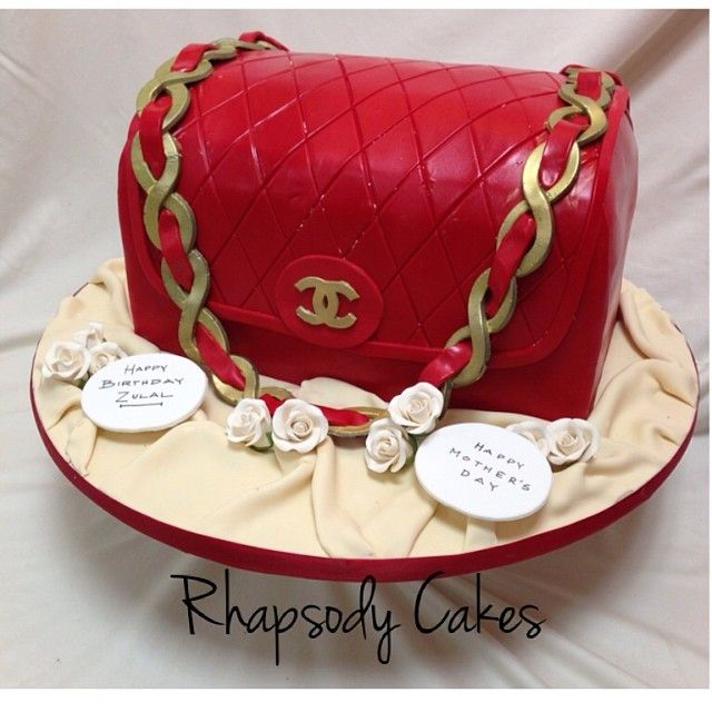 f73d119b0ee3 Edible Art. Red Chanel Purse Cake | Great Cakes | Chanel cake ...