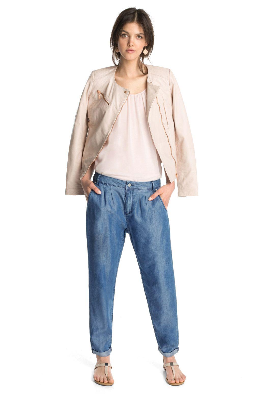 Esprit   Pantalones con pliegues en la cintura  f4bb4292df79