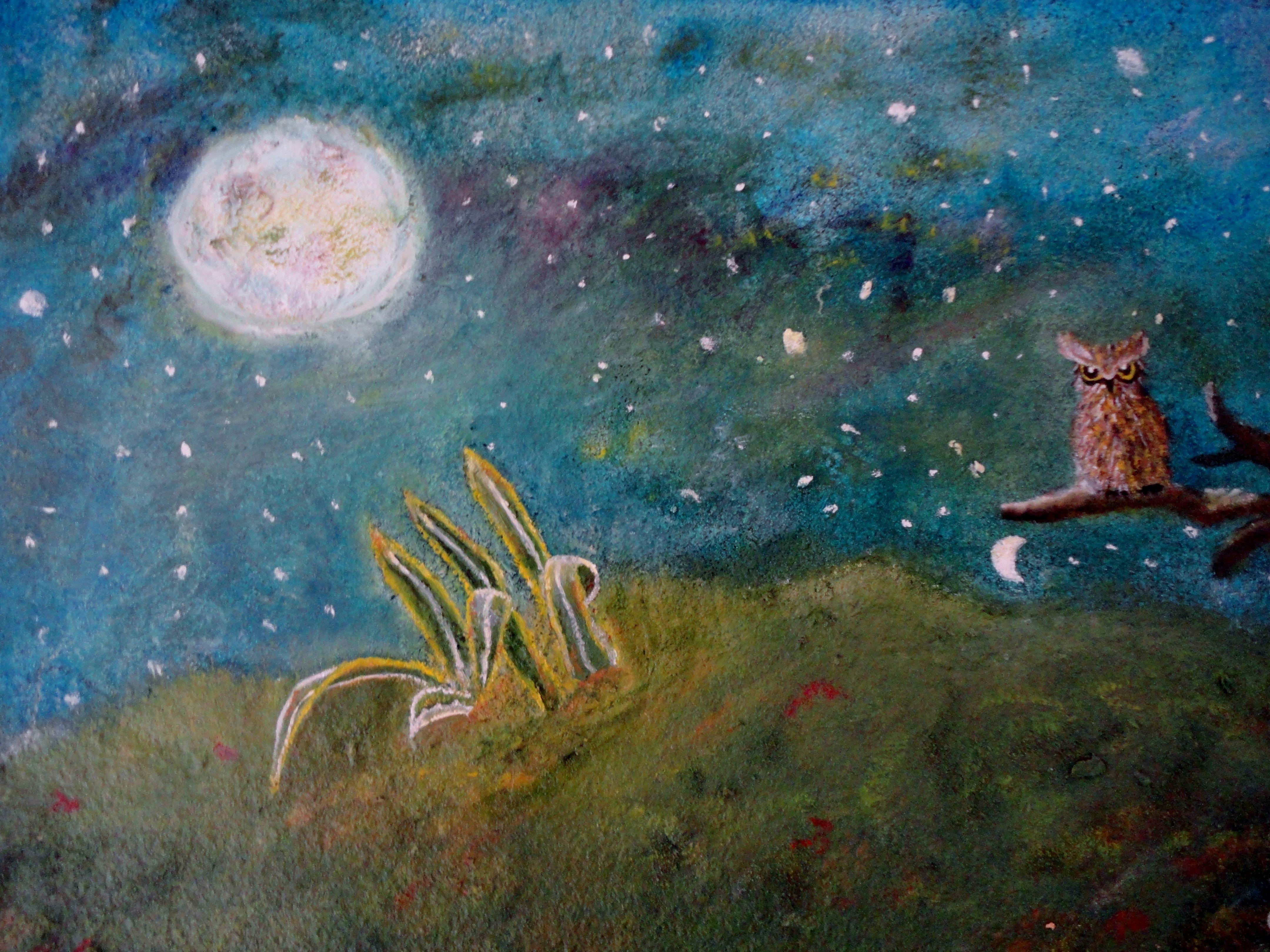 La Noche - óleo sobre tela y polvo de mármol