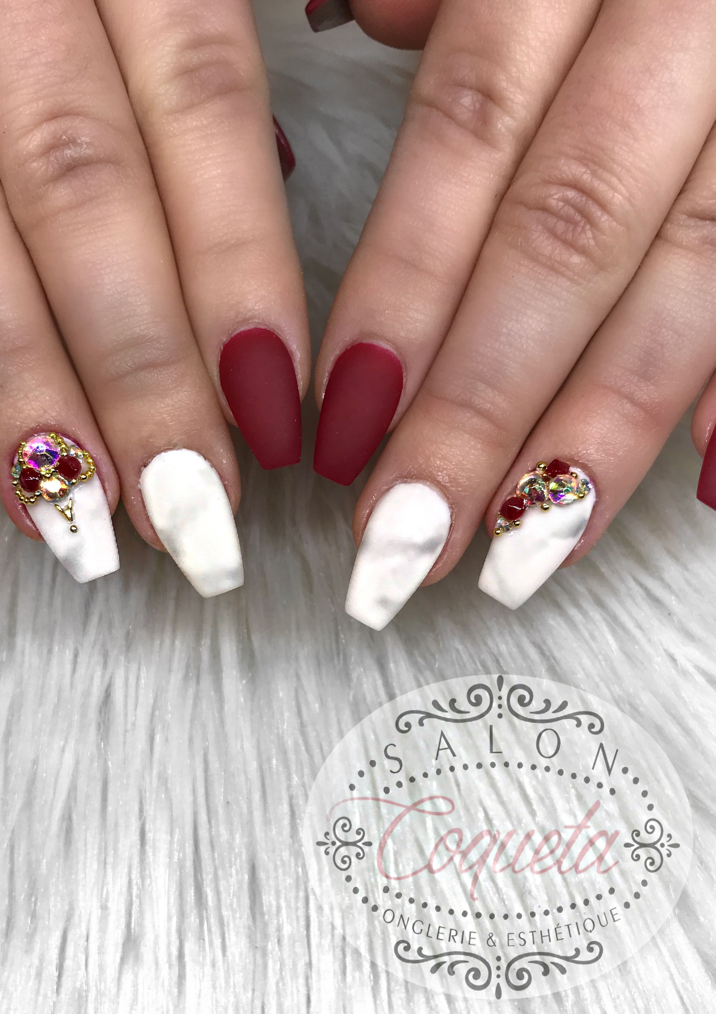 coffin long nails square glitter