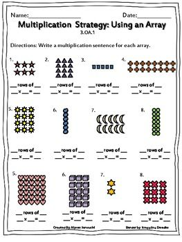 multiplication using arrays worksheets  homework  multiplication  multiplication using arrays worksheets