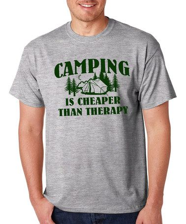 Love this Gray 'Camping Is Cheaper' Tee on #zulily! #zulilyfinds