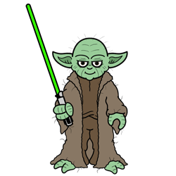 How To Draw Yoda From Star Wars Cartoon Image Star Wars Year In