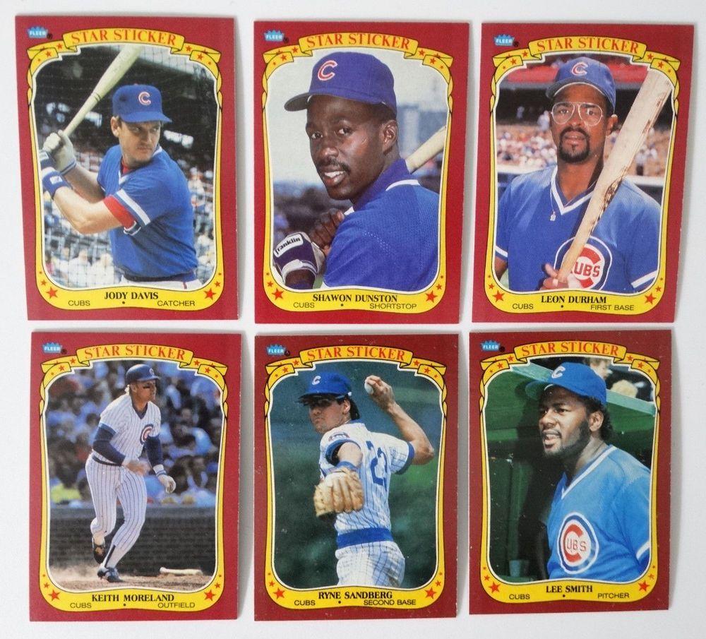 Details About 1986 Fleer Baseball Cards Chicago Cubs Team Set 31