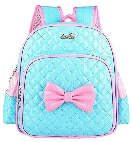 5140730471 Fanci Lattice Cute Bow Princess Style Toddler Kids School Backpack Bookbag  for Girls Pre School