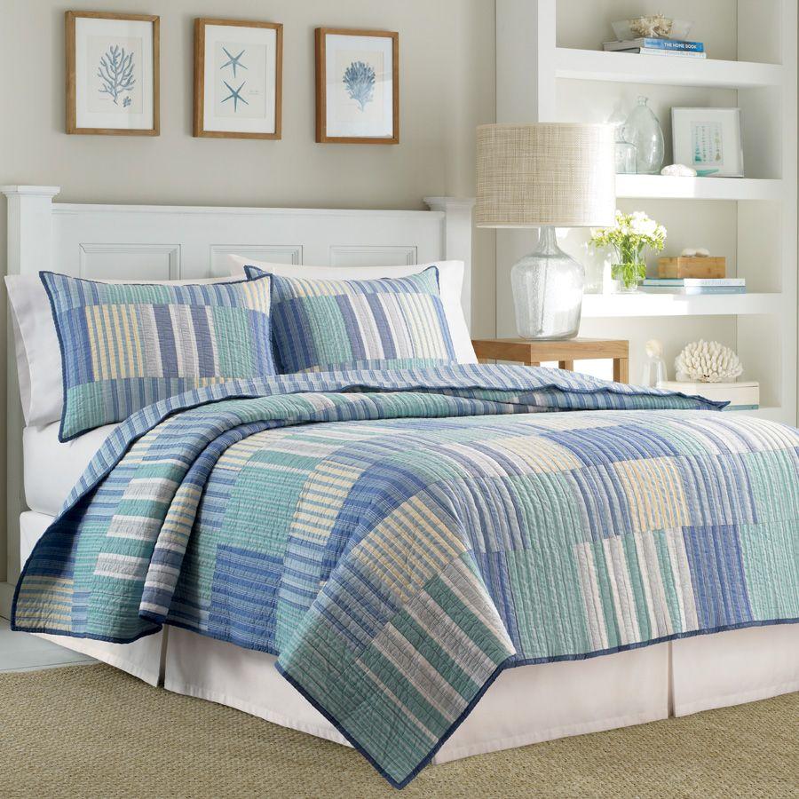 Nautica Belle Isle Quilt | Coastal Home Ideas | Pinterest | Quilt ... : chatham quilt by nautica - Adamdwight.com