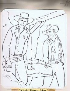 This Is The Original Artwork For The Gunsmoke Coloring Book Published By Whitman In 1959 Description F Printable Coloring Pages Coloring Books Colouring Pages