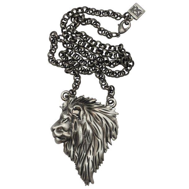 Lion Necklace Black