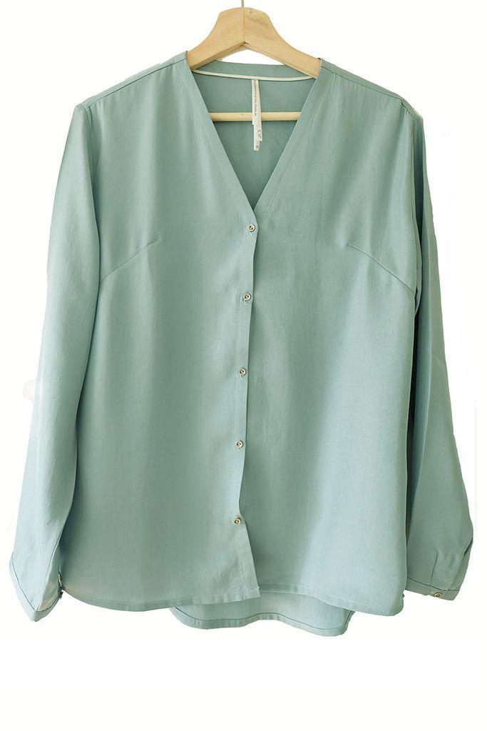 blouse mintgroen