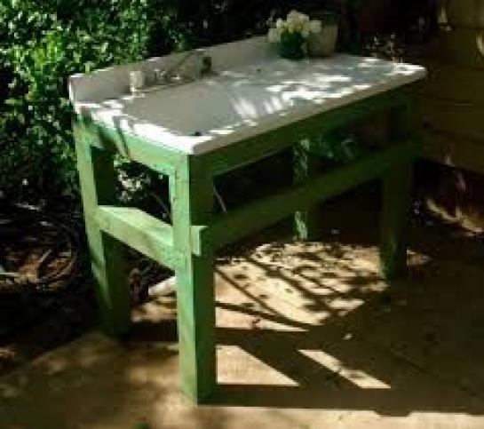 Outdoor Sink Garden Home Decor Outdoorwood In 2020 Garden Sink Outdoor Garden Sink Outdoor Sinks