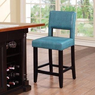 Outstanding Linon Zeta Ocean Blue Fabric Stationary Counter Stool For Cjindustries Chair Design For Home Cjindustriesco