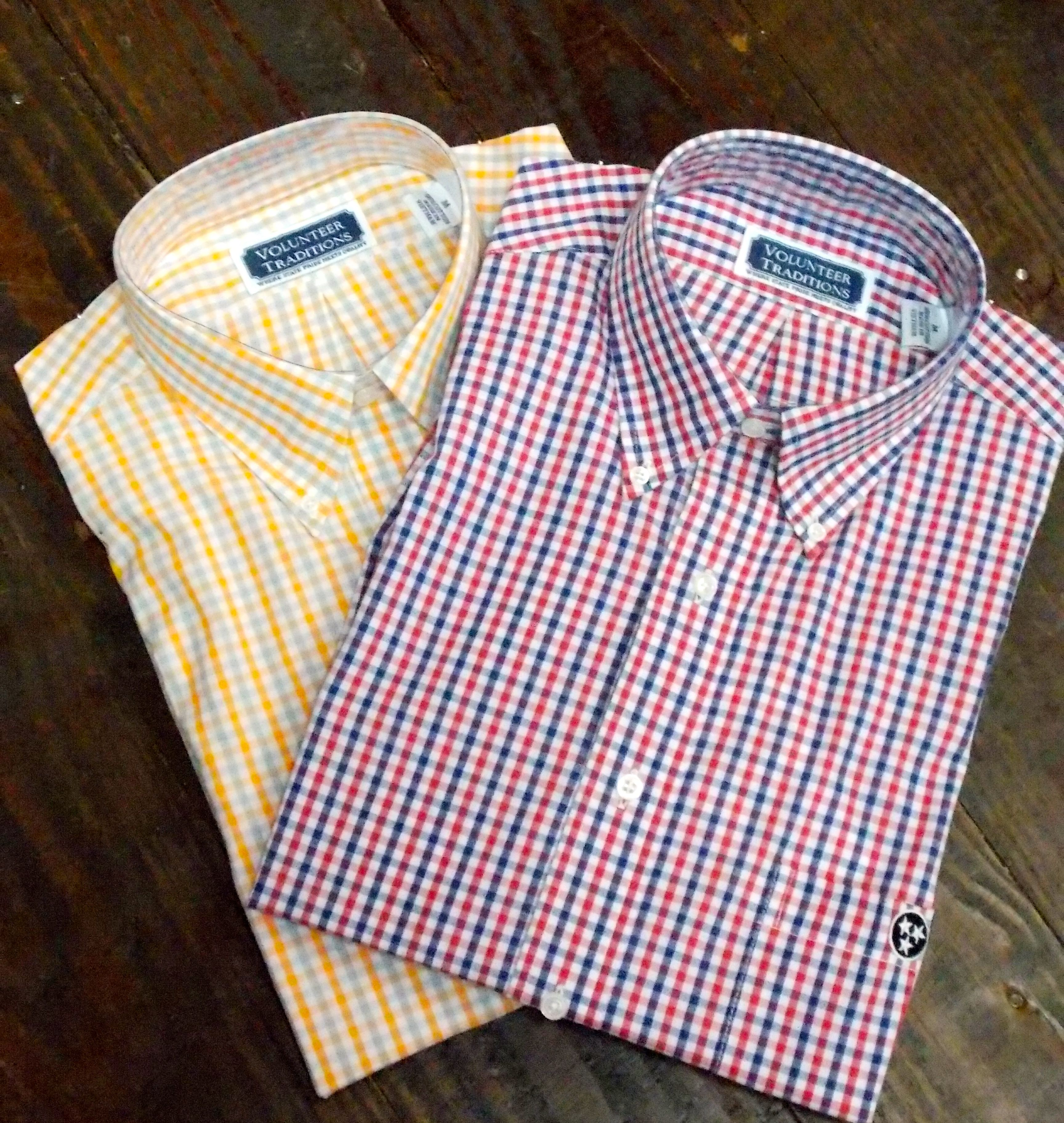 Show your school pride in these Volunteer Traditions button ups.  dixiepickersstore.com