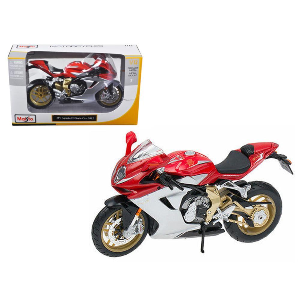 2012 MV Agusta F3 Serie Oro Red Bike Motorcycle 1/12 Diecast Model by Maisto