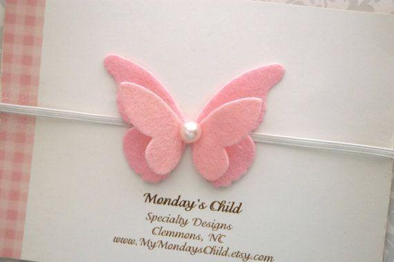 Butterfly Headband Butterfly Baby Headband Felt от MyMondaysChild #babyheadbands