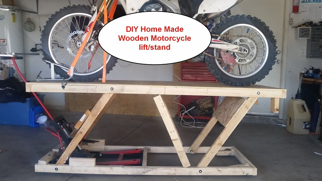 Diy Home Made Wooden Motorcycle Lift Stand Table Under 20 Almost