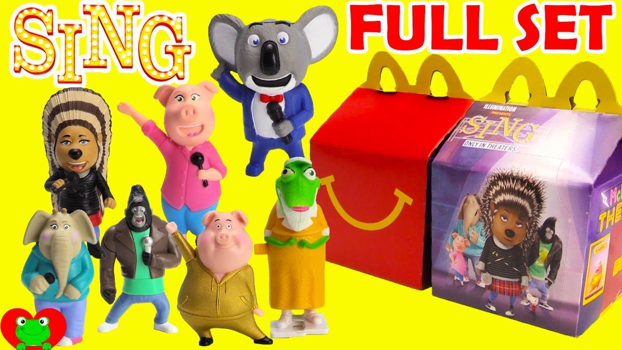 2016 Sing Mcdonald S Happy Meal Toys Full Set Happy Meal Toys Happy Meal Mcdonalds Happy Meal