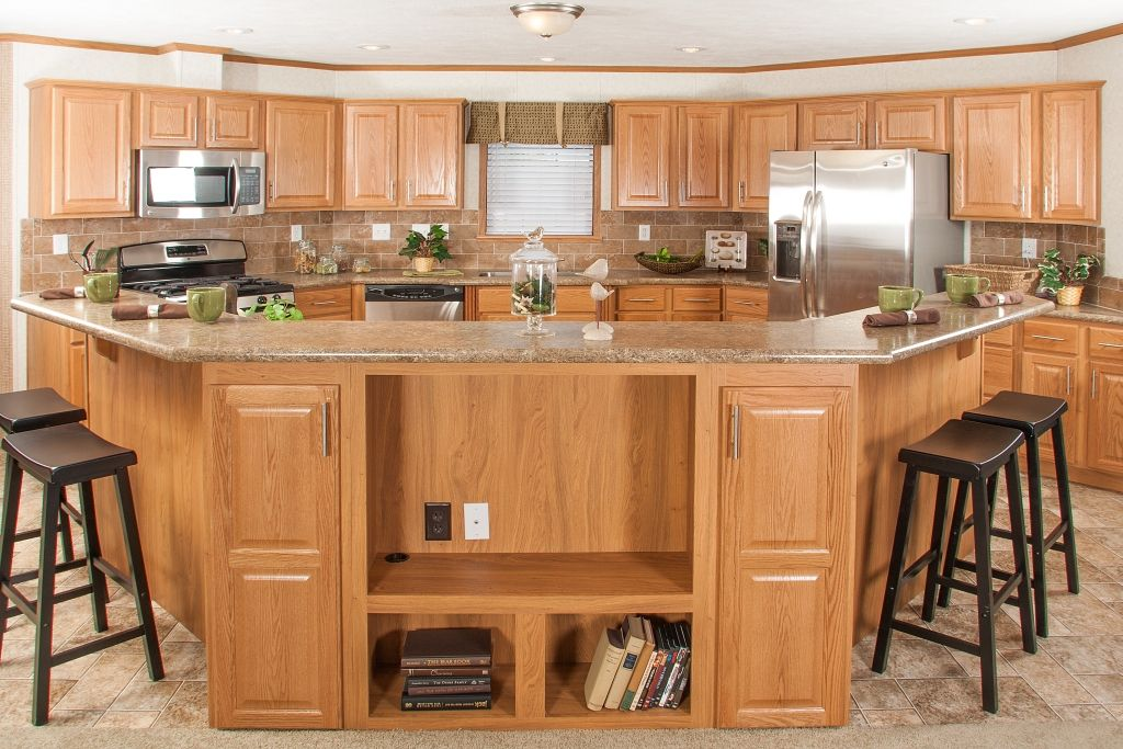 kitchen island overhang for stools tl806a timberland ranch kitchen with large island oak 8204