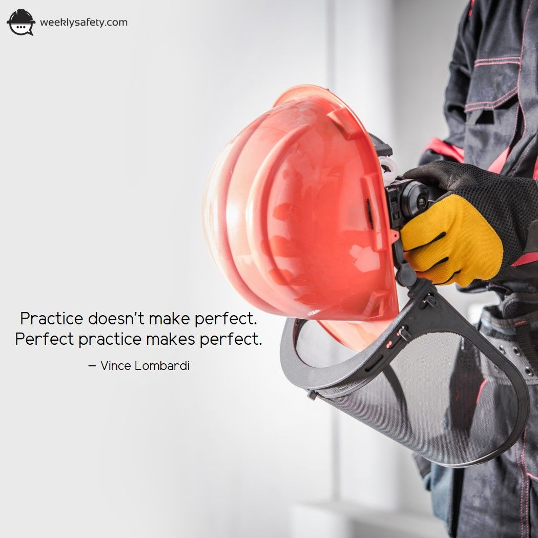 Practice doesn't make perfect. Perfect practice makes