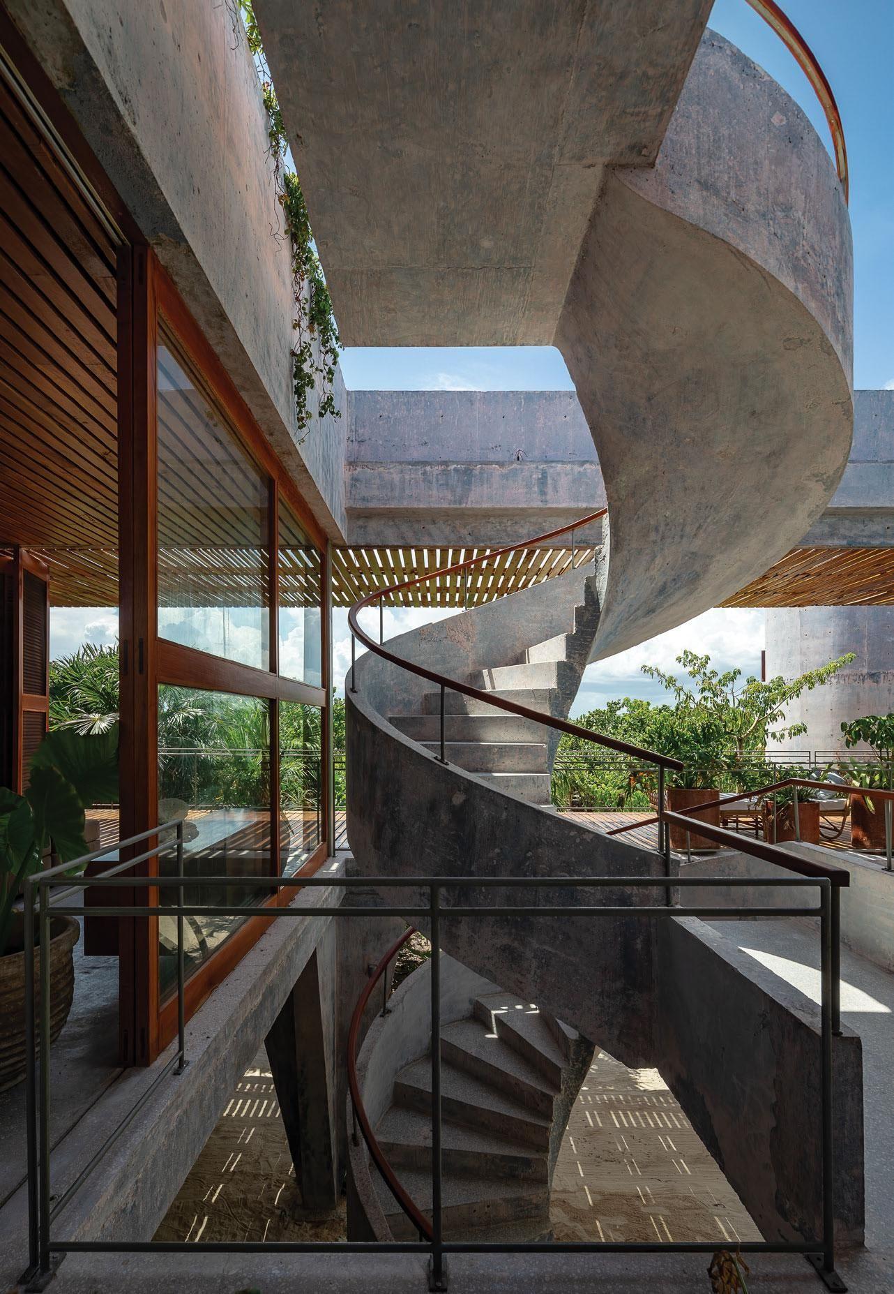 La Maison Du Grec Athens Greece In 2020 Stairway Design Brutalist Timber Pergola