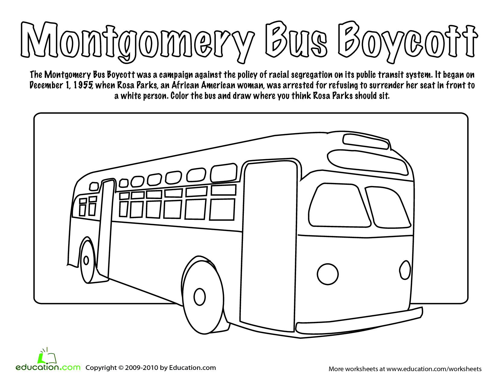 Rosa Parks Coloring Page